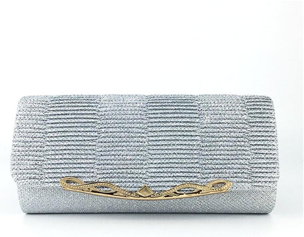 uekj Shiny Women Evening Bag Fashion Wedding Women Clutch Bag with Chain Luxury Glitter Party Bridal Ladies Handbags