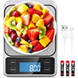 Allkeys USB Rechargeable Food Scale,Digital Kitchen Scale Weight Grams and Oz for Cooking and Baking, 0.1g/0.035oz…