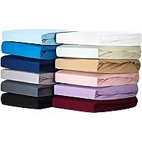 Silky Jersey - (pak van 2) Hoeslaken Voor Junior & Ledikant van 100% Katoen superzachte Lakens met ÖKOTEX STANDARD 100…