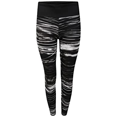 9155a670bf7fd Ladies Sports Leggings In Three Prints. Geometric, Floral or Stripe. Sizes  10 12 14 16 18 (10, STRIPE): Amazon.co.uk: Clothing