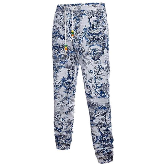 Battercake Pantalones Deportivos Lisos De Casual Lino Vestir Respirable De De Los Hombres Cómodo Pantalones Deportivos
