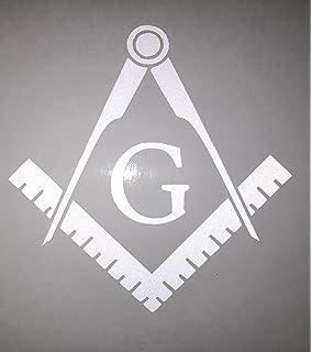 "4 Pack ProSticker 008 3/"" Masonic Silver Decals Freemason Car Truck Tail Light"