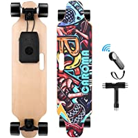 """Caroma 36"""" Electric Skateboard with Remote, 700W Dual Motor Electric Longboard, 15.6 MPH Max Speed, 10-12 Miles Range, 8…"""
