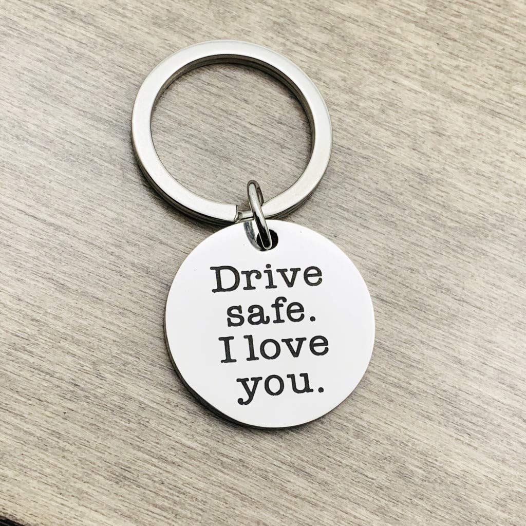 Drive Safe Handsome I Love You Keychain Gifts for Boyfriend Husband Dad Valentines Day Gift Christmas Gift Stocking Stuffer Staidness Steel Keychain Gifts