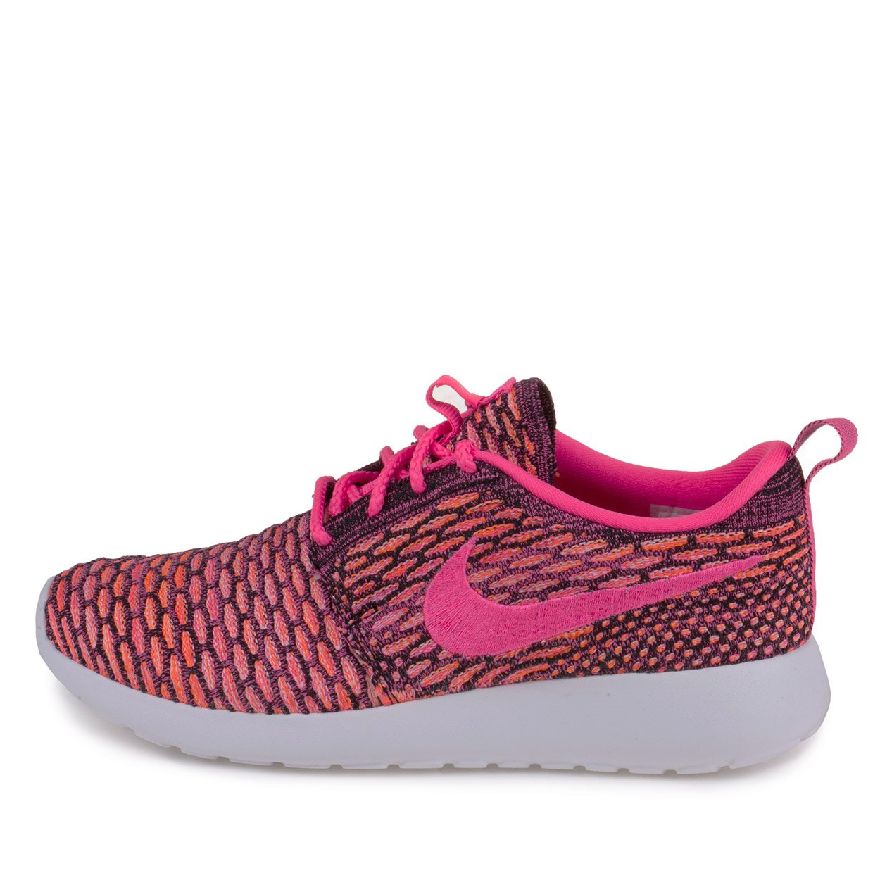reputable site 94d43 9a9f4 Galleon - Nike Womens WMNS Rosherun Flyknit Black Pink Pow-White-Total  Orange Synthetic Size 8 Running, Cross Trainers