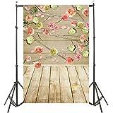 YJYdada Vinyl Wood Wall Floor Photography Studio Prop Backdrop Background 3x5FT (D)
