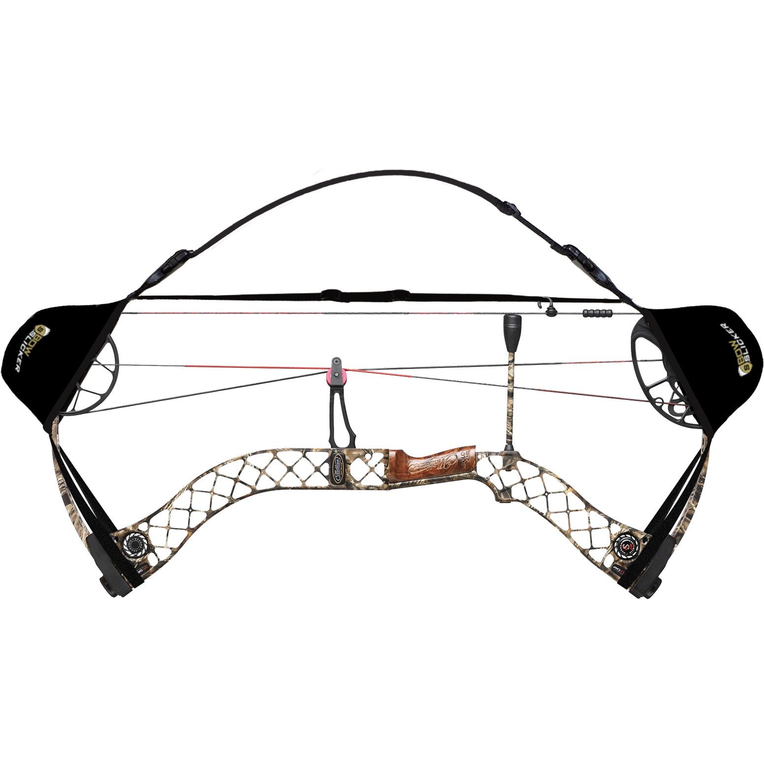 BowSlicker Bow Sling and Cam Guards- Black by Slicker (Image #2)