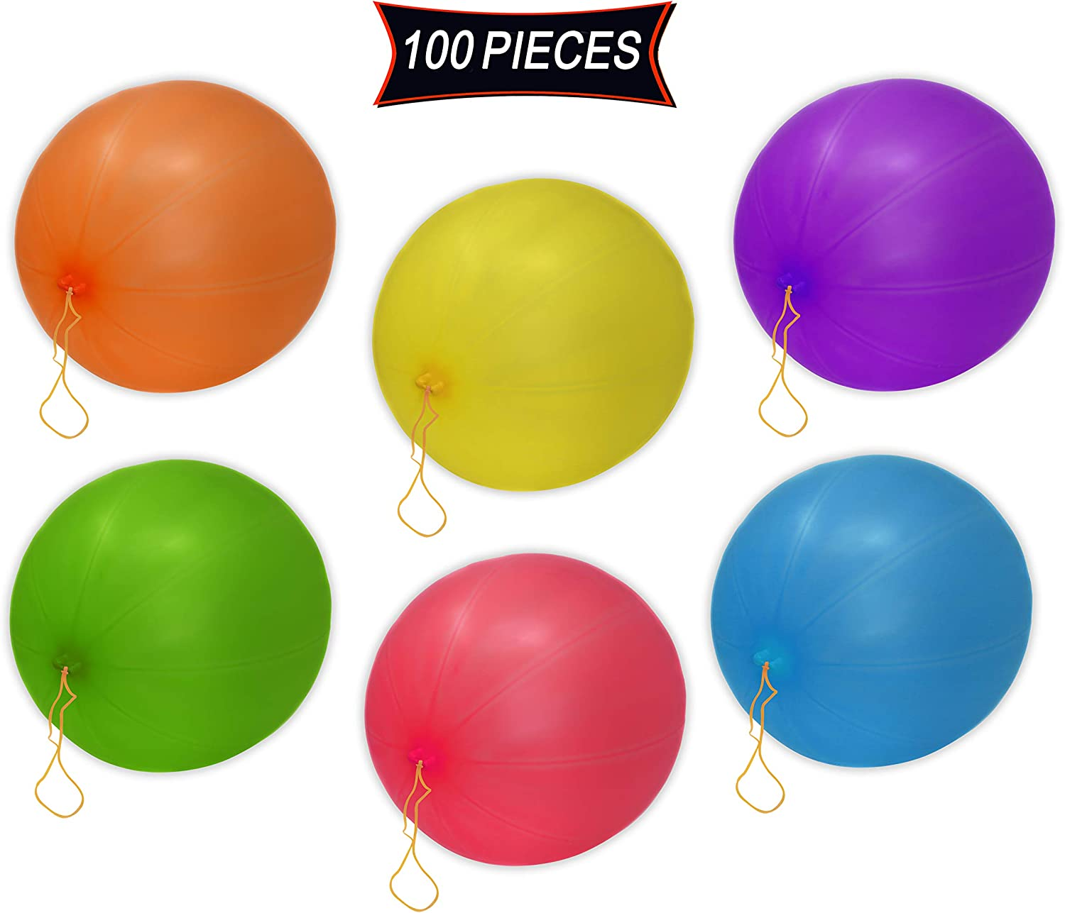25-Rubber-Punch-Balloons-Assorted-Coloured Birthday-Party-Favour-Balloons