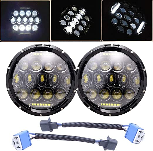 For Chevrolet G10 20 30 C10 20 2Pcs 7/'/' Round  75W LED DRL Headlight Bulb US DOT