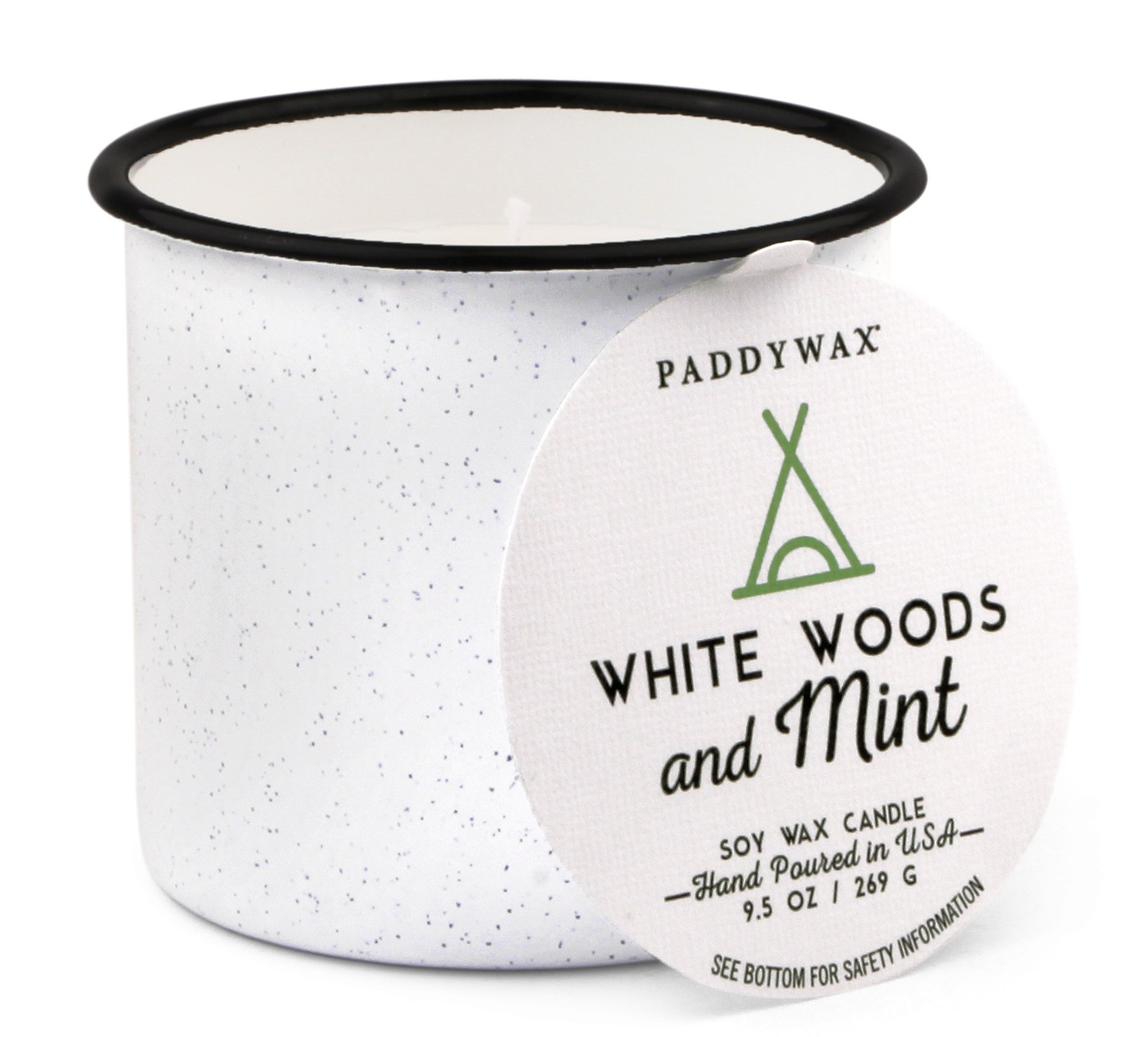 Paddywax Alpine Collection Scented Soy Wax Candle, 9.5-Ounce, Woods & Mint