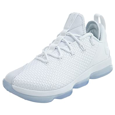brand new 59036 6c662 Nike Lebron XIV Low Mens Basketball Shoes (13 M US, White White-