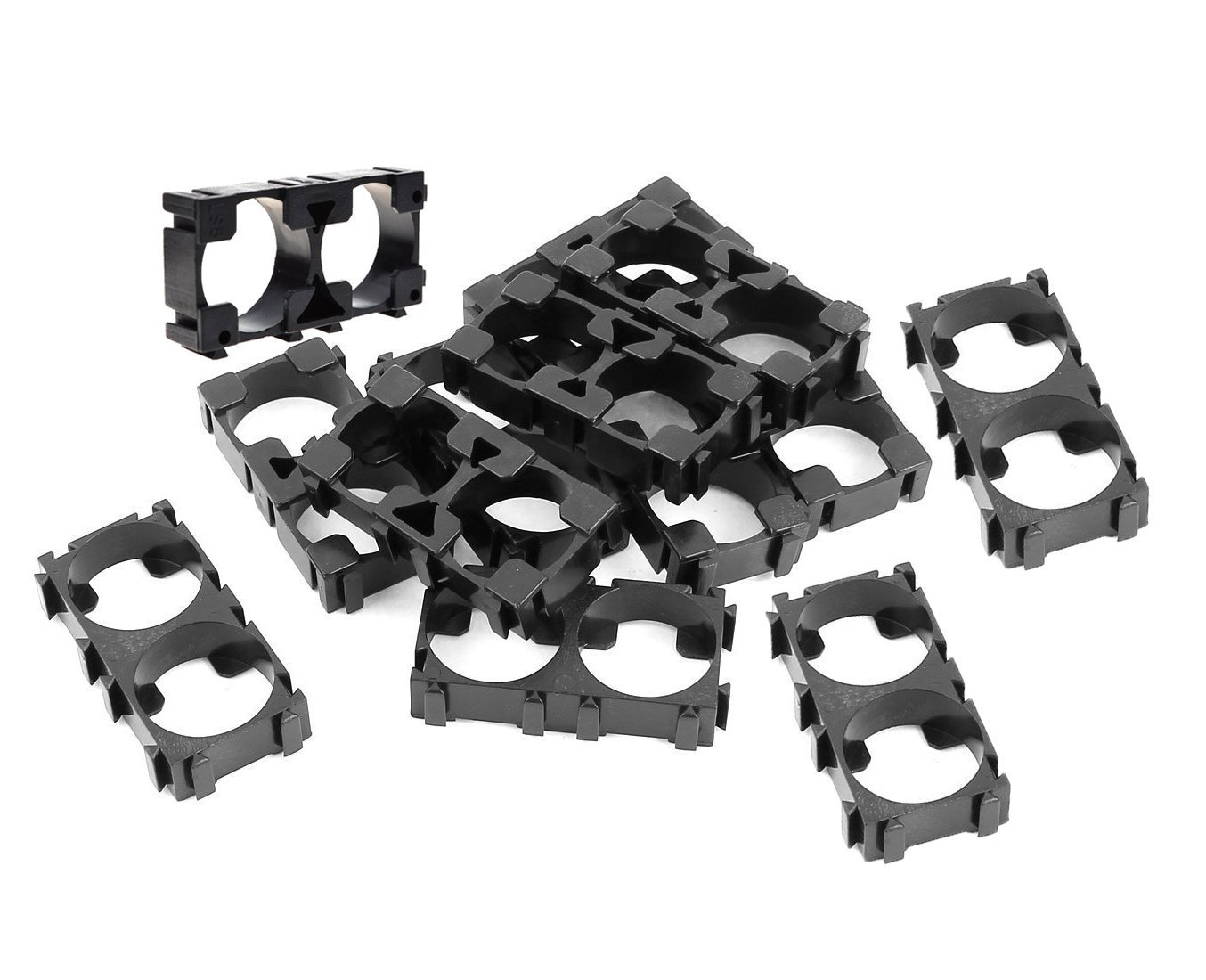 YXQ 100Pcs 18650 Battery Holder 2 Cell Spacer Single Bracket Storage Box Protection Board Lithium for DIY Battery Pack