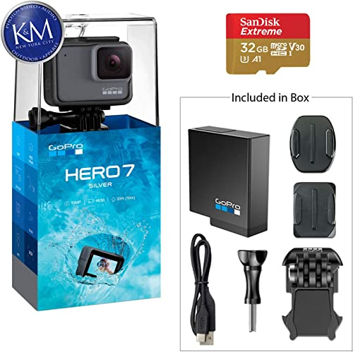 GoPro HERO7 Silver Action Camera w 32 GB Micro Memory Card