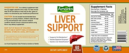 Amazon.com: Amonto Naturals Livercare/Liv. 52 for Liver Cleanse and Liver Support (60 Vegetarian Capsules) - Milk Thistle, Chicory Root, Dandelion Root, ...