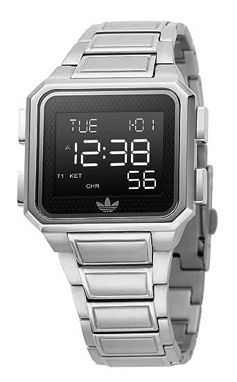 adidas adh1828 Unisex Negro Digital reloj de pulsera de acero inoxidable: Amazon.es: Relojes