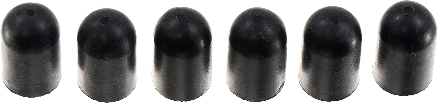 APDTY 58403 7//32 In Rubber Black Vacuum Cap Pack of 6