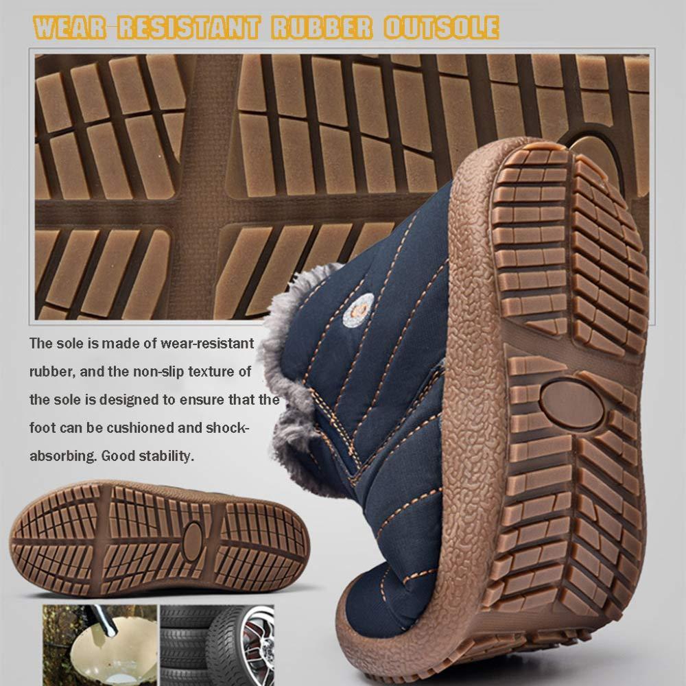 MISS Pelz LI Hausschuhe Herren Schneestiefel Outdoor-Schuhe Pelz MISS Gefüttert Knöchel Dick-Soled Wasserdichte Rutschfeste Baumwolle Schuhe fd94f8