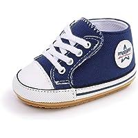 Zapatos de bebé para 0-18 Meses, Zapatillas de Lona para bebé niños y niñas Primeros Pasos con Suela Suave…