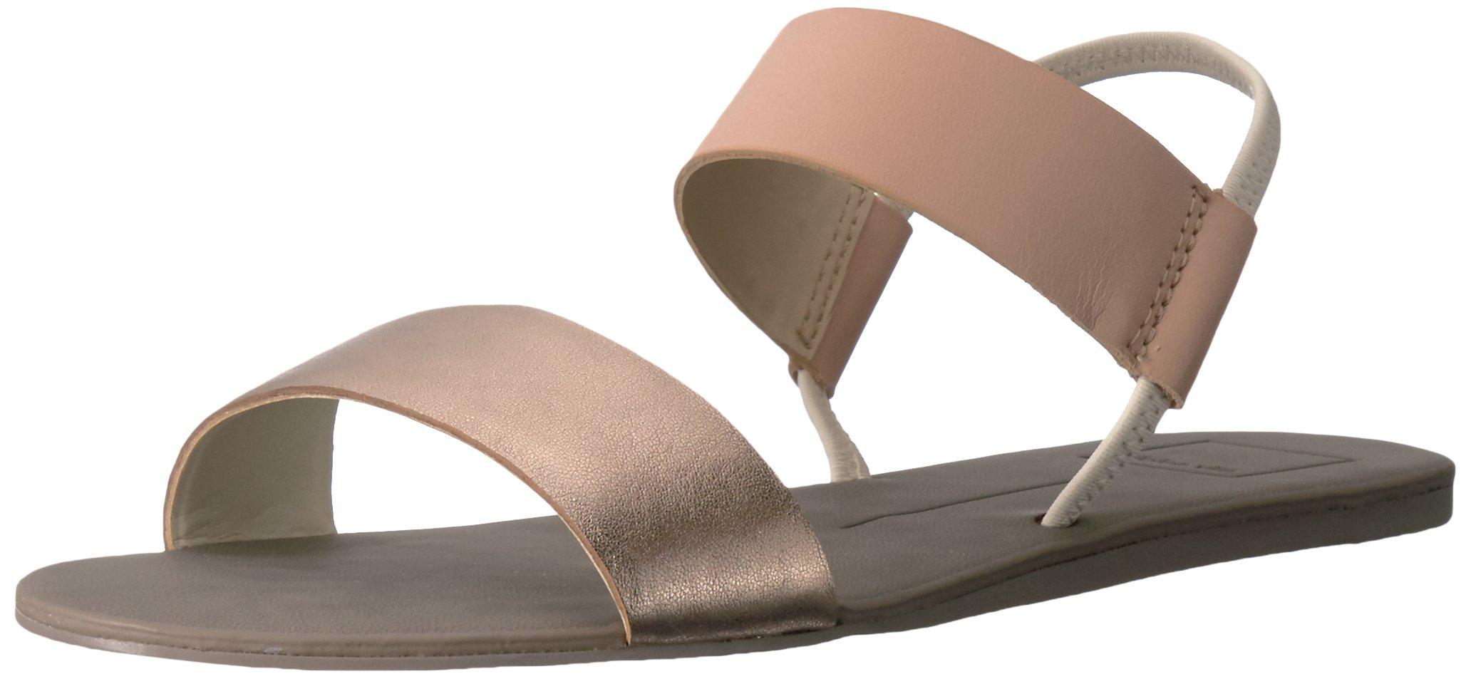 Dolce Vita Women's Demi Flat Sandal, Natural Multi Leather, 8.5 M US
