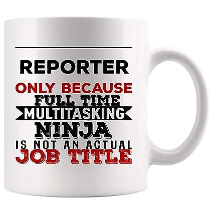 Amazon.com: Reporter Mug Coffee Cup Because Multitasking ...