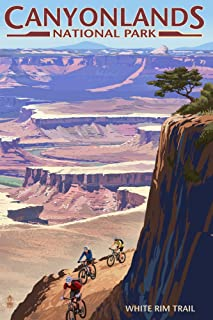 product image for Canyonlands National Park, Utah - Conflunce and Bikers (36x54 Giclee Gallery Print, Wall Decor Travel Poster)