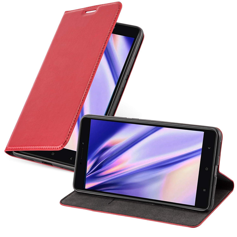 Cadorabo Funda Libro para Xiaomi Mi MAX 2 en Rojo Manzana – Cubierta Proteccíon con Cierre Magnético, Tarjetero y Función de Suporte – Etui Case Cover ...