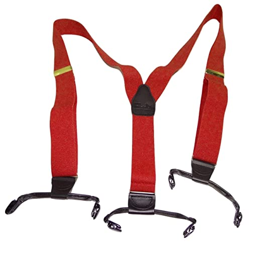 0150689871b Image Unavailable. Image not available for. Color  Hold-Ups Extra Long XL  Fire Engine Red Dual Clip Double-ups Style Suspenders