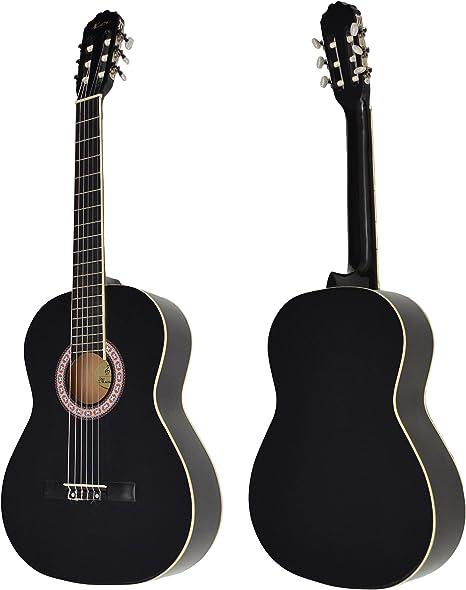Ts-ideen - Guitarra clásica española (4/4, con mástil de madera de ...