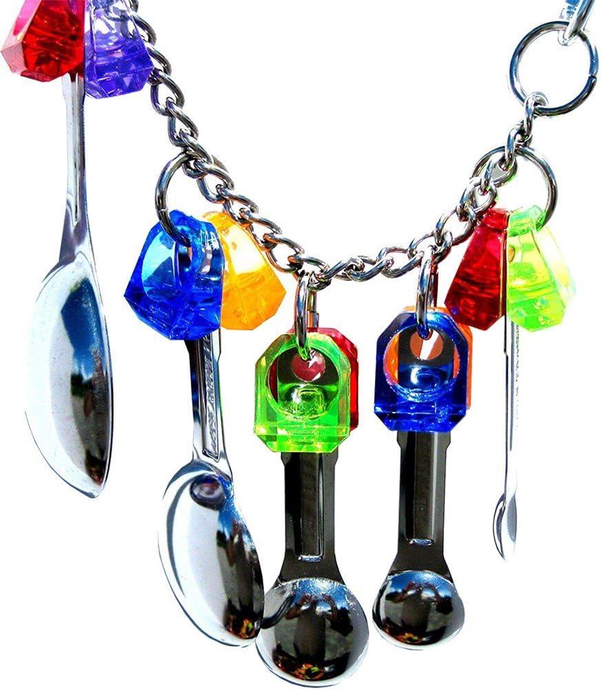 ueetek juguetes de mordedura de pájaro de animal familier de bota de cuchara juguetes con la mini Alpargata para el loro