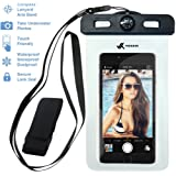 Voxkin PREMIUM QUALITY Universal Waterproof Case including ARMBAND ✚ COMPASS ✚ LANYARD - Best Water Proof, Dustproof, Snowproof Bag for iPhone 6S, 6, 6 Plus, 5, Galaxy S6 S5, Note 4 or Any Phone