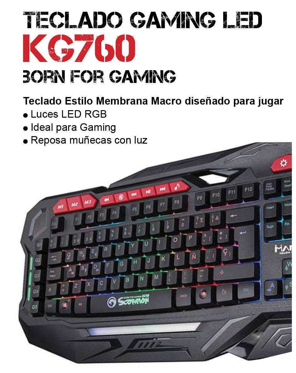 Scorpion MA-KG760 SP - Teclado Gaming Español, color negro: Amazon.es: Informática