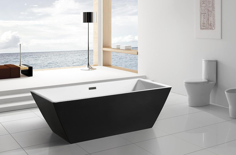 AKDY F273 Bathroom Black Color Free Standing Acrylic Bathtub ...