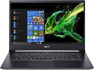 "Acer Aspire 7 Laptop, 15.6"" Full HD, 8th Gen Intel Core i7-8705G, AMD Radeon RX Vega M GL, 16GB DDR4, 512GB PCIe NVMe SSD, A715-73G-75BW"