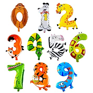Animales, Números, Decoraciones, Globos, Globos de Cumpleaños, Bodas, Fiestas, Baby Shower, Decoraciones para Fiestas, Juguetes para Niños, Niños ...