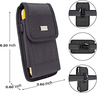 Bomea Samsung Galaxy S10e S7 S8 Holster Fits Cellphone with Otterbox Case//Lifeproof Case on Rugged Cell Phone Belt Case with Belt Clip Holster Pouch for Galaxy S10e S7 S8 Black