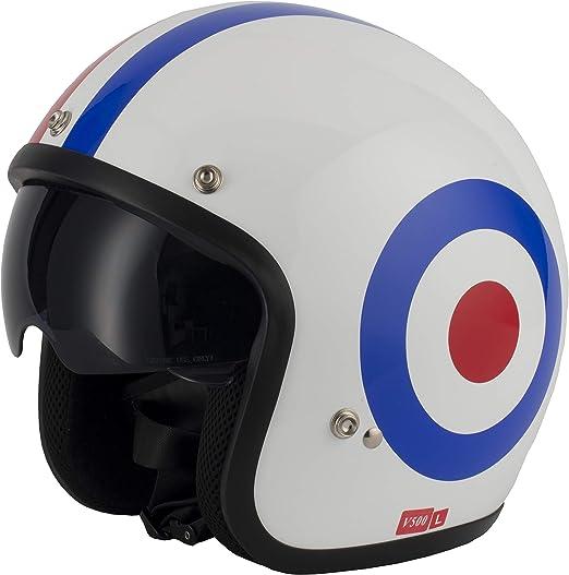 VCAN V537 Open Face with Sun Visor Roundel Large Helmet