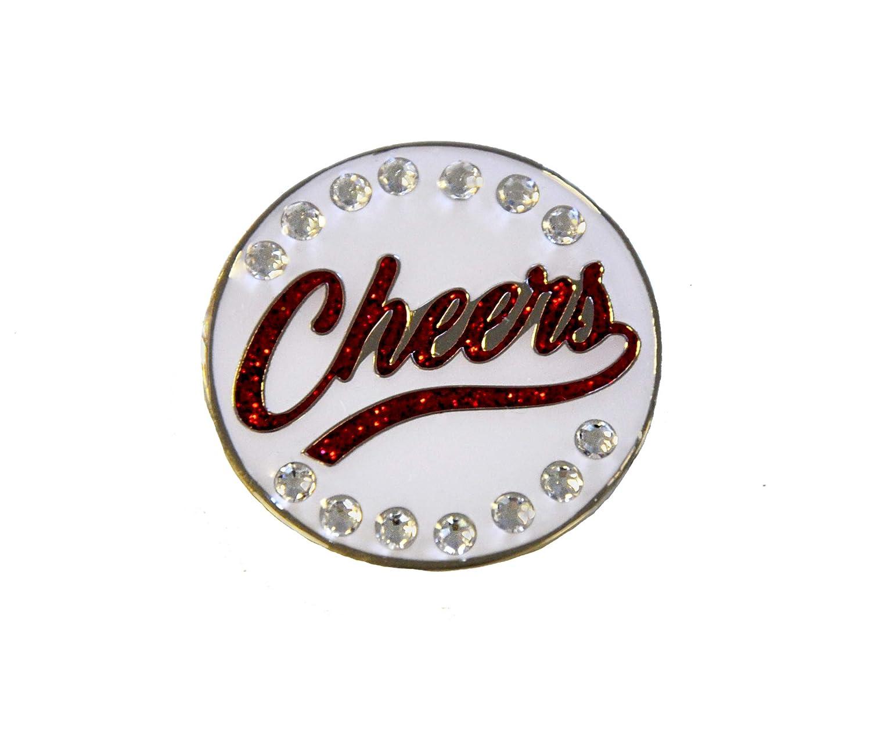 Cheersレッドスワロフスキークリスタルボールマーカーwith磁気帽子クリップ   B072M3SMQF