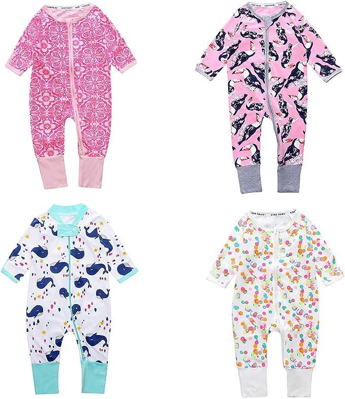 Marsherun Infant Babys Girl Boy Leopard Long Sleeve Rompers Playsuits