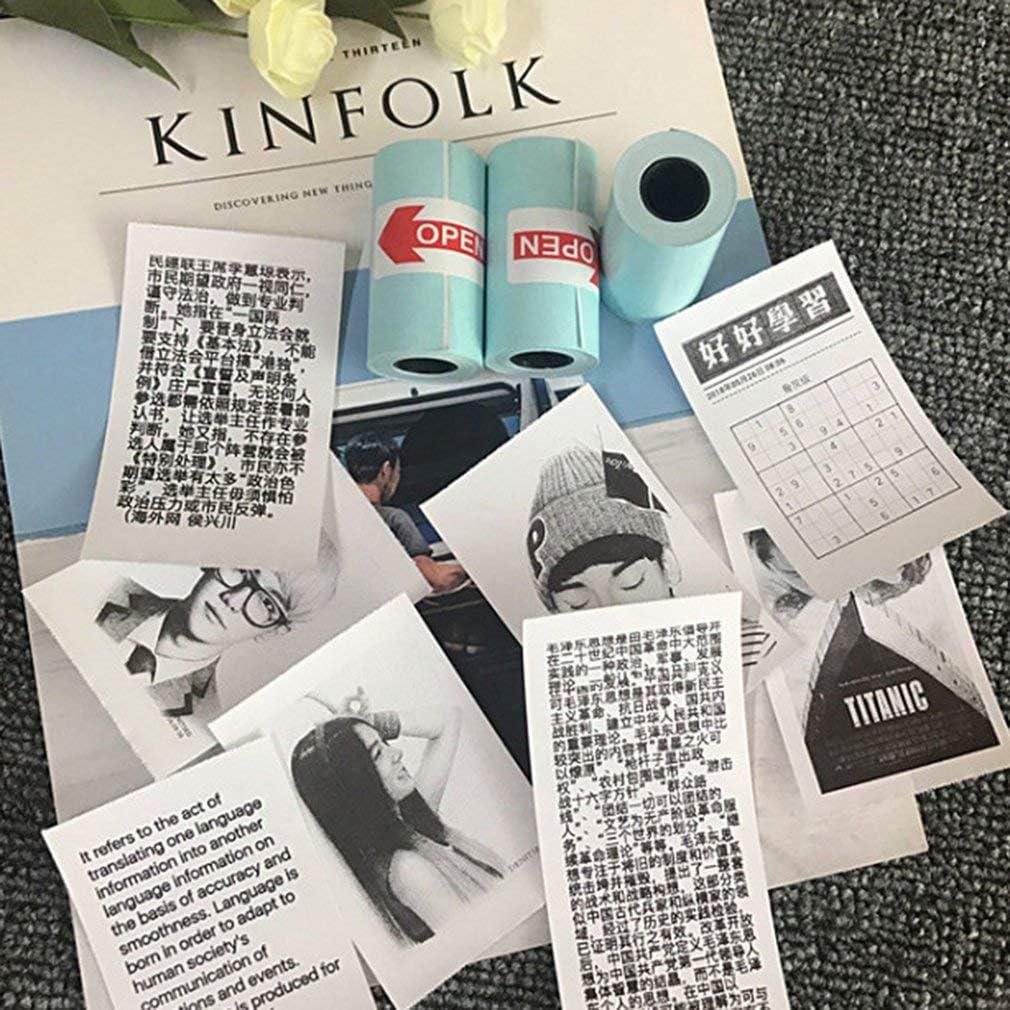 KinshopS 3 Rotoli//Set Stampa duratura per Carta Fotografica Adesiva Paperang per Stampante Fotografica