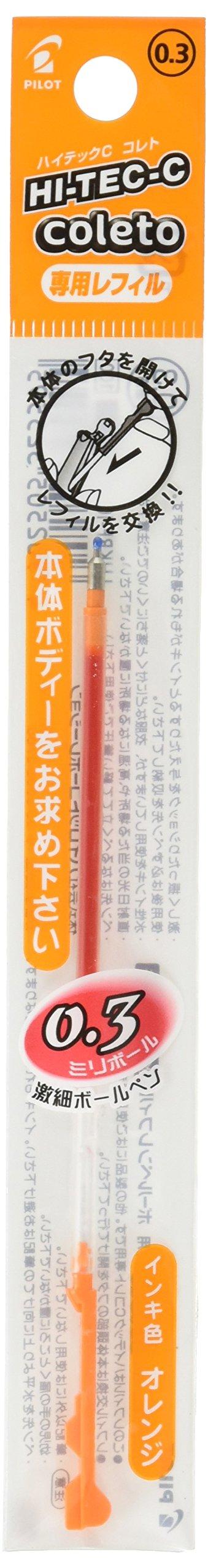 Recarga Tinta Pilot 0.3mm Naranja (LHKRF-10C3-O)