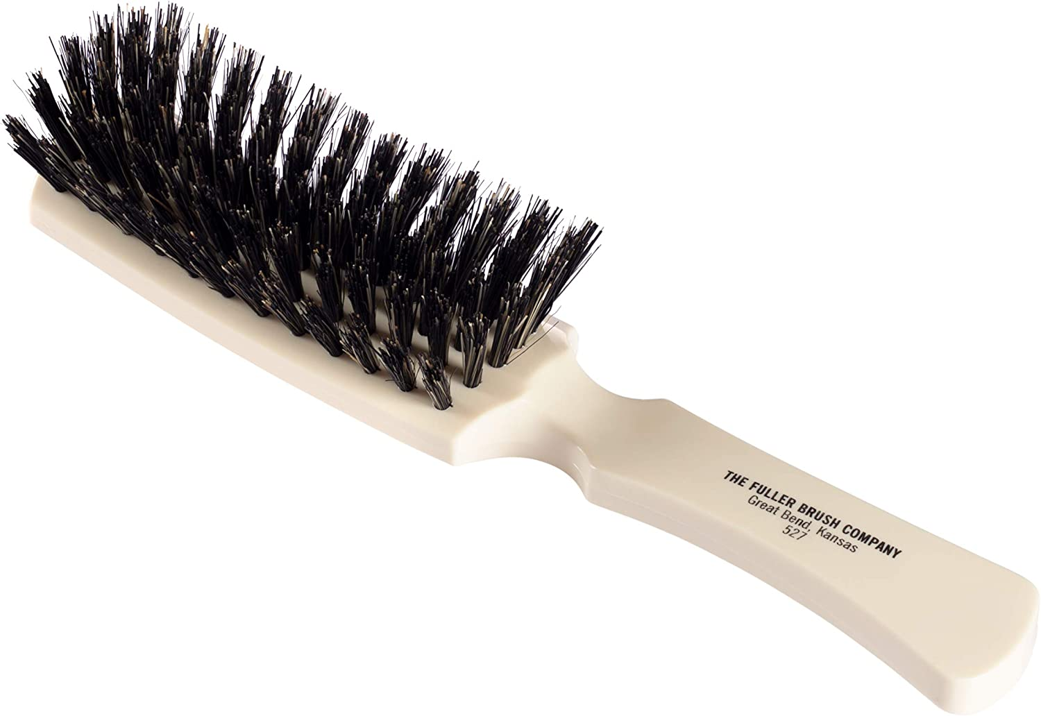 Fuller Brush Lustre Professional Hairbrush – 6 Row Styling Hair Brush & Volumizer w/ Natural Boar Bristle For Smoothing Straight, Short Fine or Damaged Hair