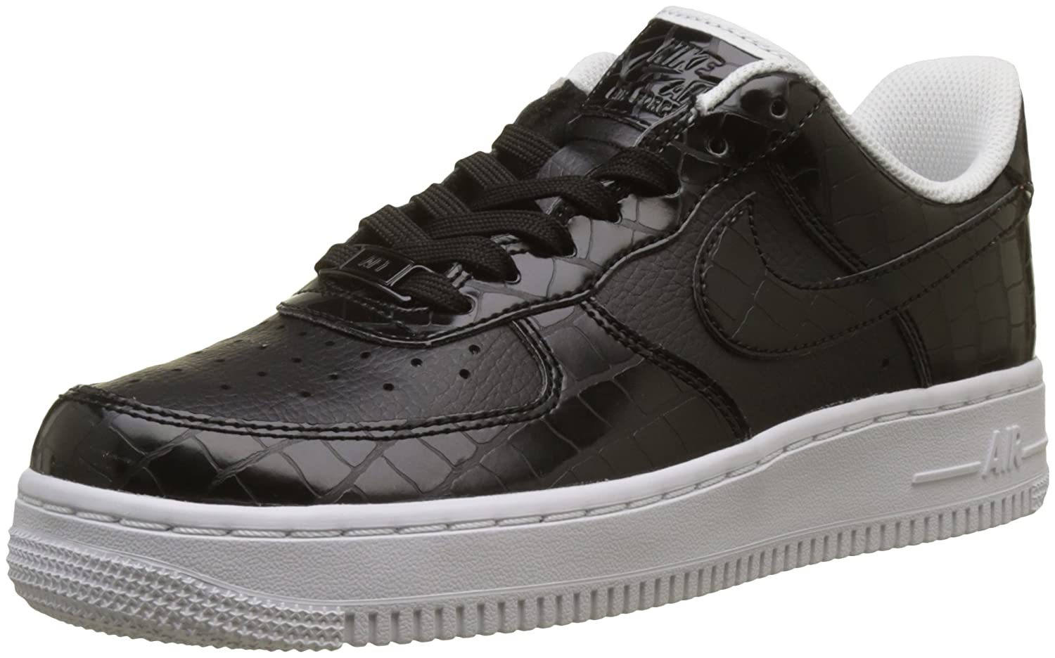 Nike Wmns Air Force 1 '07 ESS, Zapatillas de Gimnasia para Mujer 37.5 EU|Negro (Black/Black/White 001)