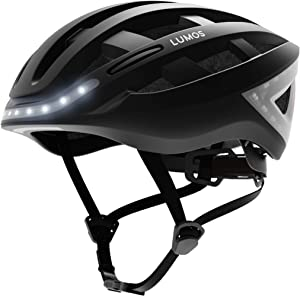 Lumos Kickstart Smart Bike Helmet with Wireless Turn Signal Handlebar Remote and Built-in Motion Sensor – 70 LEDs on Front, Rear and Sides – CPSC and CE Certified Cycling Helmet