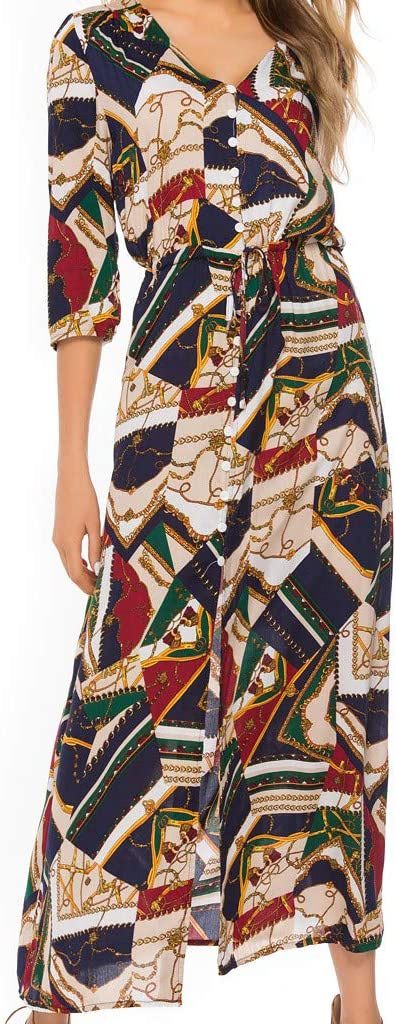 Starpromise Dresses for Women Casual Summer Fashion Beach Bohemian Spliced