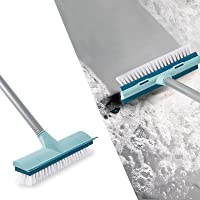 """BOOMJOY Floor Scrub Brush with Long Handle -50"""" Stiff Brush, 2 in 1 Scrape and Brush,Tub and Tile Brush for Cleaning…"""