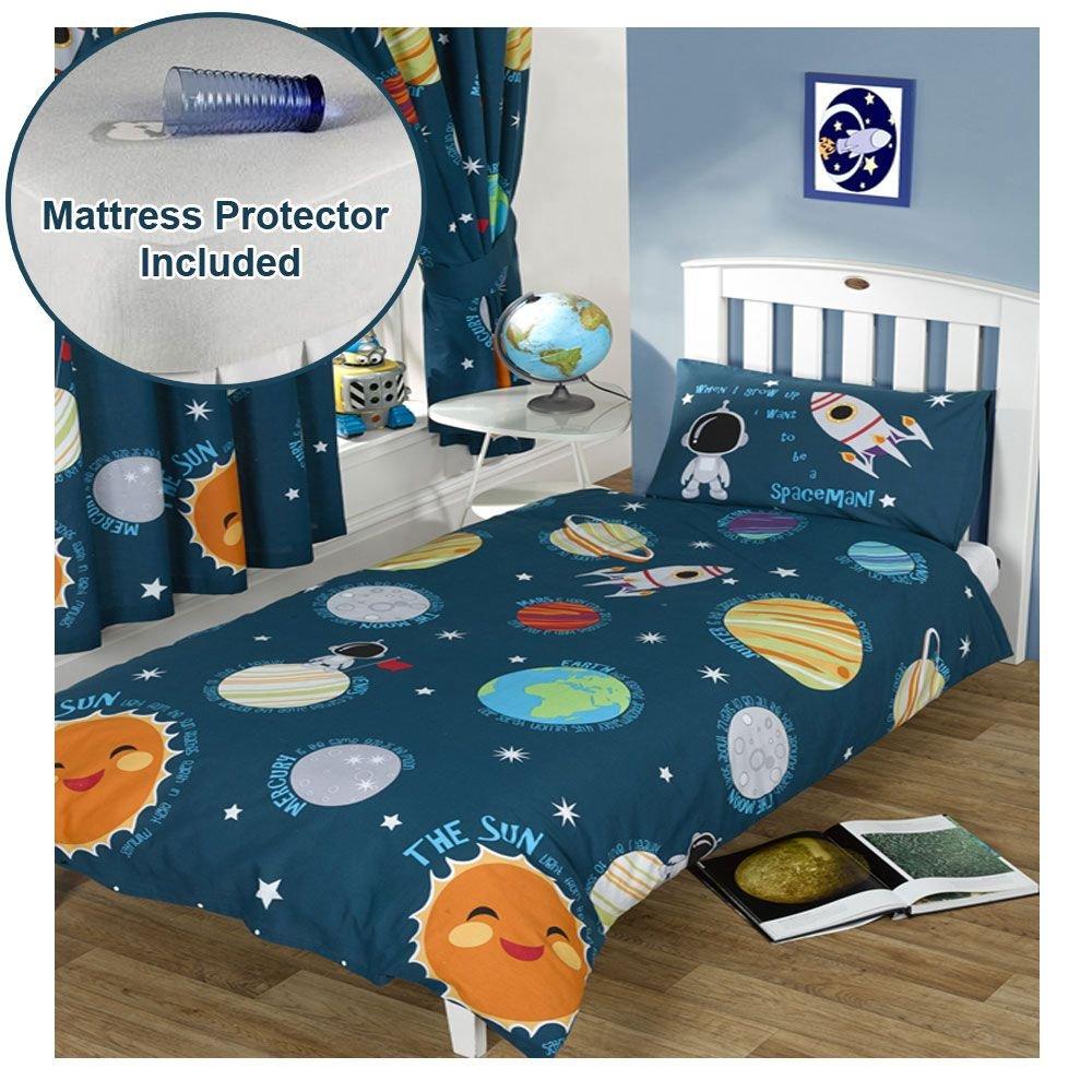 Solar System Junior Duvet Cover & Pillowcase Set + Mattress Protector
