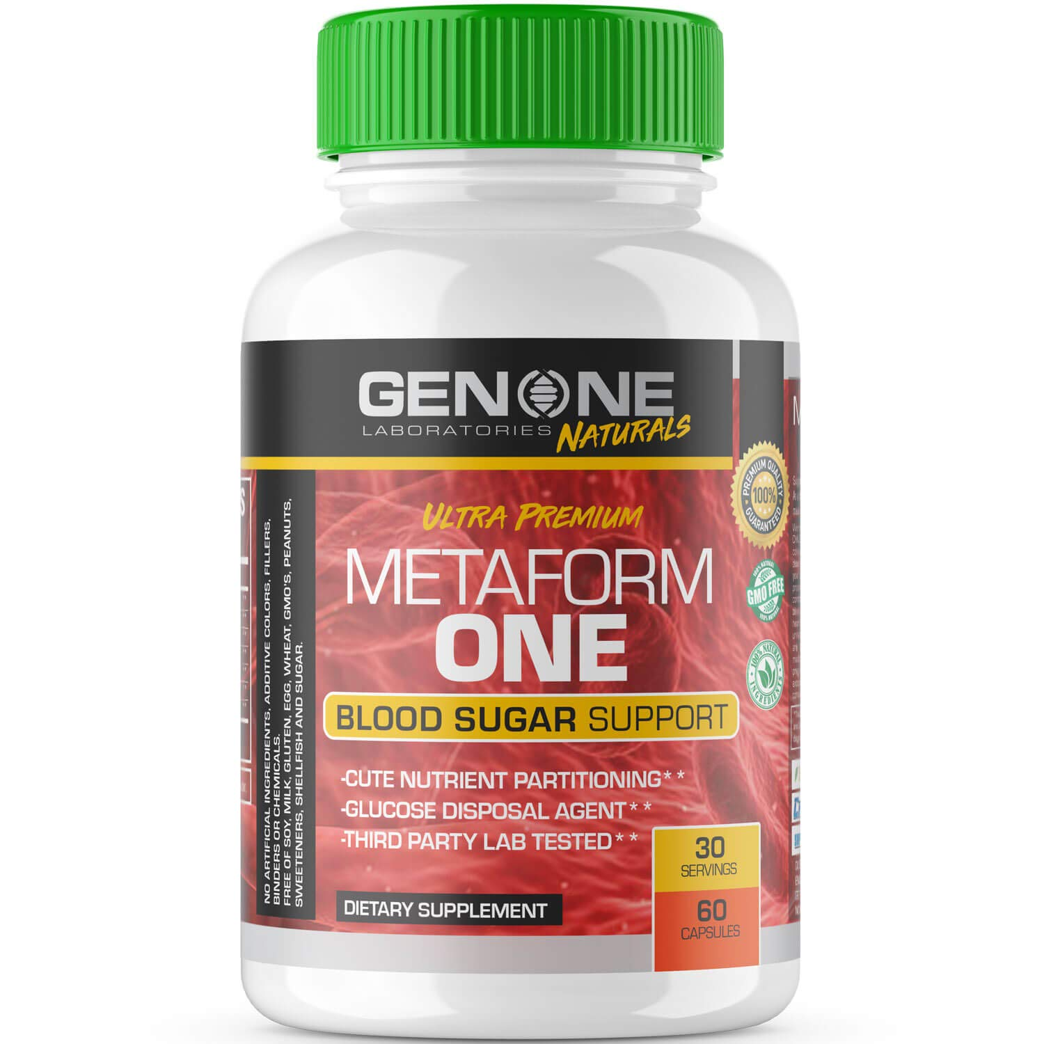 GenOne Nutrition- Metaform One - Glucose Disposal Agent (GDA), Blood Sugar Control & Acute Nutrient Partitioning - 60 Capsules