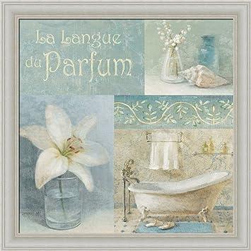 Parfum I By Danhui Nai Blue Bath Room Bathroom Wall Art Print Framed Décor