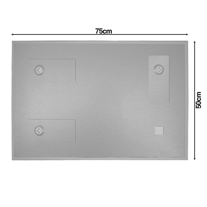 Magnetwand 60x40cm gro/ß BANJADO Glas Magnettafel mit 4 Magneten Memoboard beschreibbar perfekt f/ür die K/üche Magnetboard gro/ß mit Motiv Postkarte