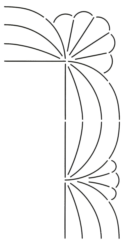 3 Quilting Creations Corner Design Quilt Stencil